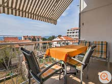 balcony of the holiday home Galeb with a view of the islands Brac and Hvar